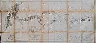 1854-5 Whipple Map of Arkansas to New Mexico -- Map No.