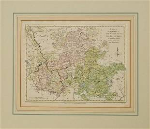 1794 Wilkinson Map of Central Germany, Rhine, Moselle