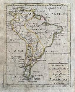 South America, RARE Swedish issue by A. Akerman