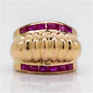 Original Vintage 1940's Retro Ruby Ring