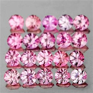 1.20 mm Round 90 pieces AAA Fire Natural Pink Sapphire