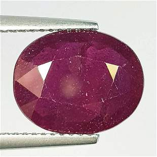 Natural Ruby Oval Cut 6.25 ct