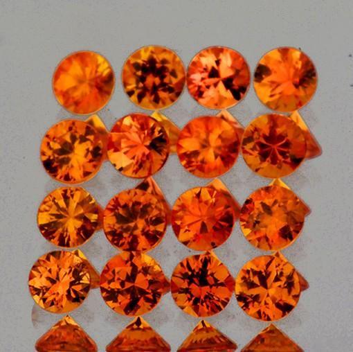 1.80 mm 30 pcs Round Brilliant Machine Cut AAA Orange