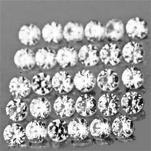 2.00 mm 20 pcs Round Machine Cut AAA Diamond White