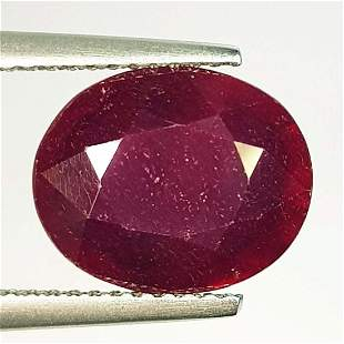 Natural Ruby Oval Cut 5.77 ct