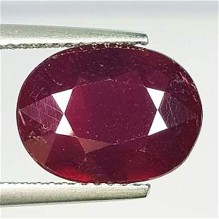 Natural Ruby Oval Cut 5.98 ct