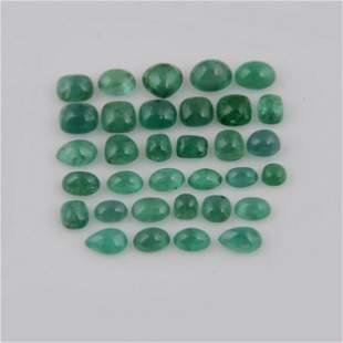 23.15 Carat Green Color Natural Oval Emerald Loose