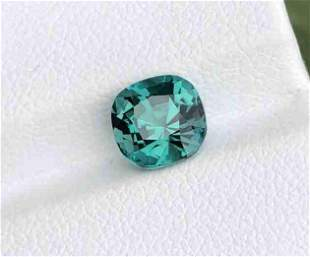 2 Carats Top Color Tourmaline from Afghanistan Cushion