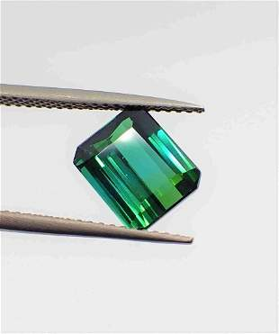 Blue Green Indicolite Tourmaline Certified - 2.51 ct