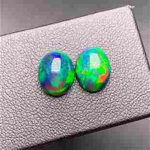 Natural Oval Cut 3.20 Carats Opal Loose Gemstone 2 pac