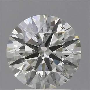 2 Ct White Color Round Diamond Loose Gemstone 1 Piece