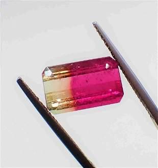 Bi-Color Rare Tourmaline Certified - 5.76 ct
