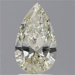2 Ct White Color Pear Diamond Loose Gemstone 1 Piece