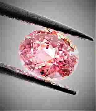 Padparadscha Sapphire Unheated Certified - 1.14 ct