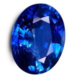 9.10 CTs Certified Very Best Gem Blue Sapphire