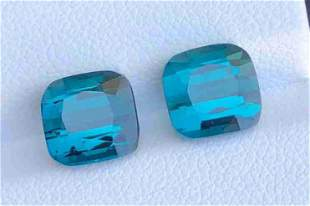 7+ Carats Top Blue Perfect Pairs Tourmaline from