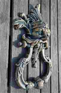 Large cast iron door knocker - Doorknob - Mythical door