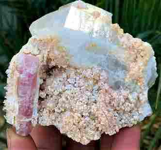 67 Carats Damage Free Pink Tourmaline Crystal Attach