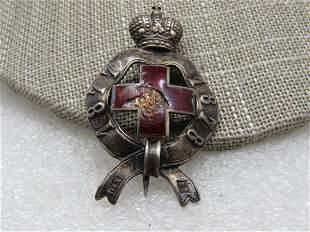 Antique Silver Enameled Russo Turkish War Medal