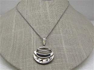 """Vintage Sterling African Animal Themed Necklace 18"""""""
