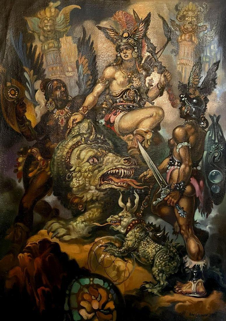 Oil painting Fantasy Alexander Arkadievich Litvinov