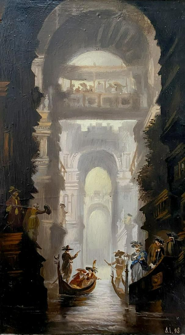 Oil painting Venice Alexander Arkadievich Litvinov