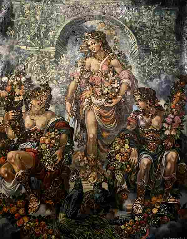 Oil painting Venus Alexander Arkadievich Litvinov