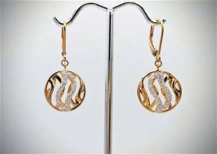 Dangly Earrings w Cubic Zirconia