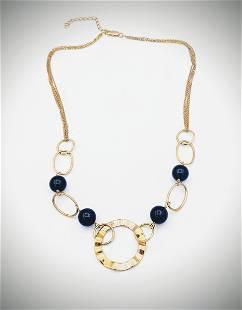 Four Stranded Necklace w Black Onyx Beads