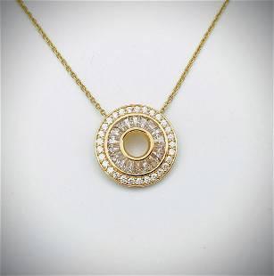 Necklace & Pendant w Cubic Zirconia