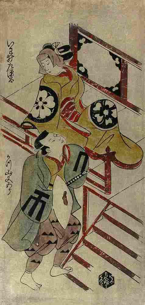 Torii KIYONOBU I: Kabuki scene