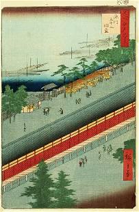 Utagawa HIROSHIGE I (1797-1858): Hall of Thirty-three