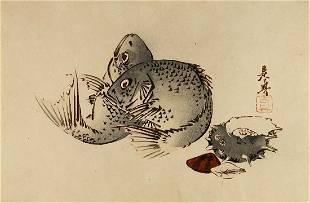 Shibata ZESHIN (1907-91): Porgies and Shells