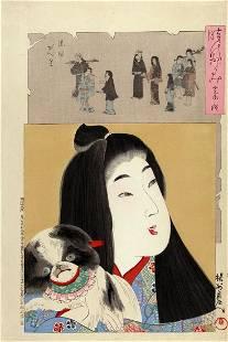 Toyohara CHIKANOBU (1838-1912): Kan'ei era: Girl with
