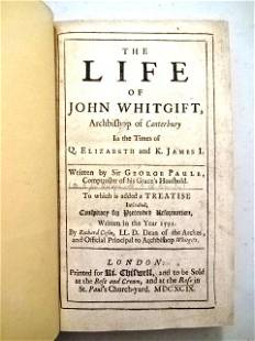 1699 The Life of John Whitgift Archbishop Canterbury