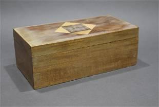 Wooden Velvet Lined Jewellery Box