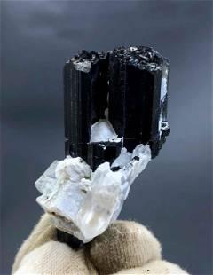 natural tourmaline with quartz specimen from skardu