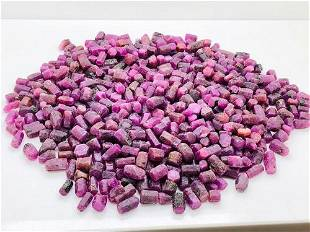 1 kg Beautiful Ruby Crystals Lot
