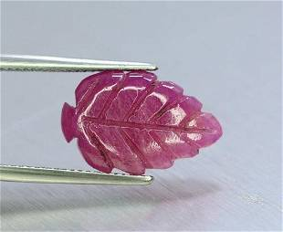 7.05 Cts Stunning Natural Ruby Leaf