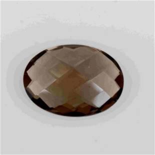 9 Carat Brown Color Natural Oval Smoky Quartz 1 Pieces