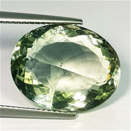 Natural Green Amethyst Oval Cut 13.03 Ct