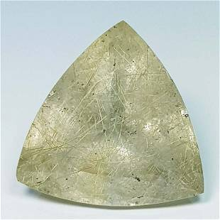 Natural Golden Rutile Quartz Triangle Cut 9.00 Ct