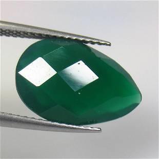 5.16 Ct Natural Green Onyx Pear Cut