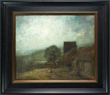 Unknown: Signed - Untitled: Farmhouse