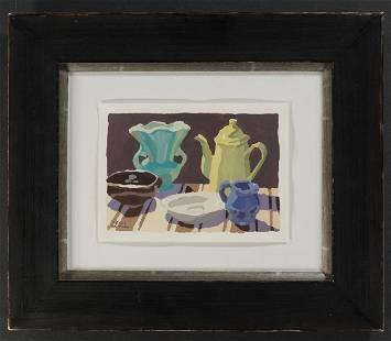 Peggi Kroll Roberts - Still Life With Turquoise Vase