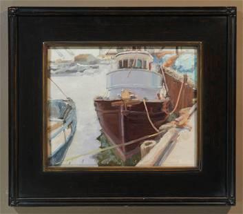 Daniel Aldana - Boat at Dock