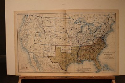 1895 US Civil War Map