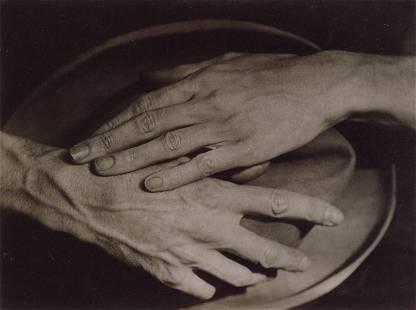 BERENICE ABBOTT - Jean Cocteau's Hands, Paris, 1925