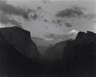 ANSEL ADAMS - Yosemite Valley, Moonrise, 1944