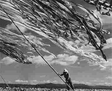 WERNER BISCHOFF - Silk Drying, Kyoto, Japan, 1951
